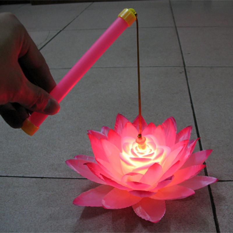 Portable led lotus lamp lotus lamp child portable lantern toy !(China (Mainland))