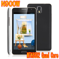 Hi-Q Android phone neto3 N900W 5.5 inch IPS Screen MTK6582 Quad Core Smartphone 3G GPS 1G + 4G 8.0MP dual sim card free shipping