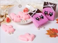 New Arrival! telesthesia Heart shape Handmade Soap wedding gift 6 pcs/lot perfumed soap fancy soap