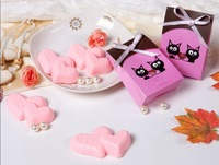 New Arrival! telesthesia Heart shape Handmade Soap wedding gift 6 pcs/lot perfumed soap fancy soap