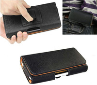 Belt Clip Loop Hip Holster Leather Flip Pouch Case Cover For HTC 8S
