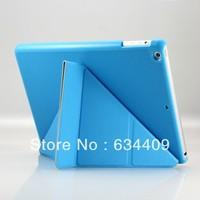 Smart Transformer Folding Cross Pattern Cover Case For New iPad MINI 2 Wake Cover W/ Sleep Wake Free Screen Guard