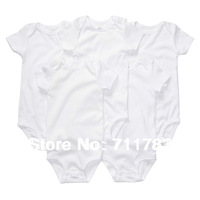 Carters Original  Baby Boy Girl White Short Sleeve Romper Carter Infant Bodysuit Summer Clothing 5-pack
