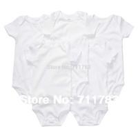 Carters Original  Baby Boy Girl White Short Sleeve bodysuit,Carter Infant  Summer Clothing 5pcs/lot