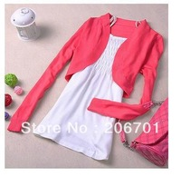 Hot New Spring / Women's Candy-colored Knit Cardigan Jacket Small Shawl Thin Piece Sling Gift