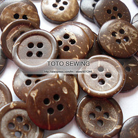 Min.order is $12 (mix order),dark brown natural 4 holes round sewing coconut button,size15*15MM,100pcs/lot,T2019456,freeshipping