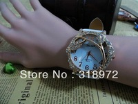 2013 new arrival stylish Grape design diamond watch Women fashion leather strap quartz watch Crystal lady dress wrist watches