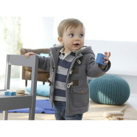 Free Shipping 2013 winter fashion horn button child thickening outerwear overcoat male child outerwear boy jacket retail