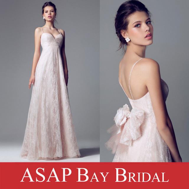 кружева империи свадебное платье с спагетти