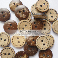 Min.order is $12 (mix order),dark brown cute sewing line round coconut button,size15*15MM,100pcs/lot,T2019459,freeshipping