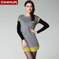 Edhi autumn flower slim waist one-piece dress