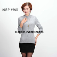 Basic shirt female long-sleeve short design sweater cashmere sweater turtleneck sweater women's short design sweater