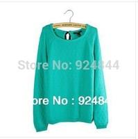New 2014 autumn-summer 100% cotton slim pullover o-neck long-sleeve sweater women's sweater fall 2013 cardigan women