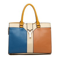 Free shipping,For oppo   bag fashion brief fashion color block women's handbag messenger bag handbag 2013