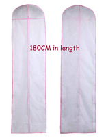 5pcs/Lot New 180Cm extra Long Wedding Evening Dress Storage Bags garment Cover Dust bags