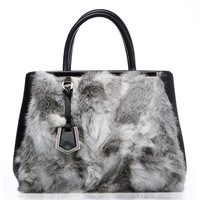 For oppo   women's handbag fashion rabbit cowhide handbag messenger bag 2013 1216 - 1
