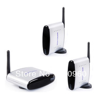 Factory-sale!New 2.4G AV Sender Wireless 1 Transmitter + 2 Receivers, 150meters free shipping wholesale