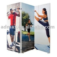 Free Shipping-Frameless Oriental panel - shower panel, three pieces - with wheels
