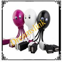 2014 Brand new  lot octopus shape HUB data splitter with four USB ports USB 2.0 Funning Octopus data splitter freeshipping 50pcs