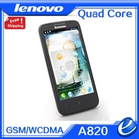 "free gift lenovo A820 Origina In stock mtk6589 quad core 1GB 4GB 4.5"" ips screen android4.1 cellphone russian mobile phone"