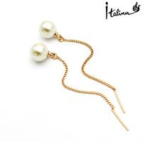 Real Italina Rigant Genuine Austria Crystal  18K gold Plated Stud Earrings for Women Enviromental Anti Allergies # RG81467