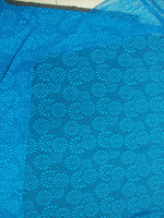 150cm width 1meter factory! lace fabric blue stretch elastic Jacquard mesh lace fabric highquality diy dress garment accessory