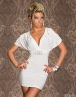 2014 Fashion Women Party clothing Slim Hip Sexy Bat sleeve hollow deep V tight dress Bodycon Mini clubwear Dresses OLS232