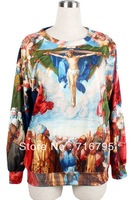 2013 Mujeres Sudadera,Colorful Standout Oil Painting Print Sweatshirt,Free Shipping