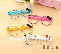 Creative stationery lovely eyeglasses ball-point pen primary school articles gifts with Bowknot 100 pieces/lot wholesale