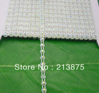 Free shipping 10Yards SS12  Light green jelly AB Rhinestones banding Trim plastic chain bottom Wedding dresses GDQL