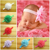 NEW ARRIVAL IN STOCK BABY GIRL HEADBAND 32pcs/lot 16colors fashion handmade flower headband hair ornaments factory direct