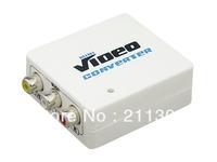 Free shipping MINI AV to HDMI Converter Scaler 1080P