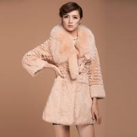 2013 rex rabbit hair fur female medium-long slim outerwear fox TL1728 free shipping