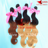 CHEAP and STOCK ombre hair Peruvian virgin extension 1#/27# 2pcs/lot 200g   unprocess body wave free shipping