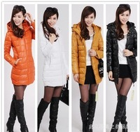 2013 PU wadded jacket women's wadded jacket cotton-padded jacket Women down cotton-padded jacket medium-long double