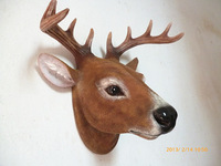wholesale Cheap Home decoration resin animal head wall hanging board deer muons fashion