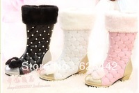 Free shipping 2013 new children princess winter boots leather waterproof warm child shoes kids martin boots girls snow boots 010