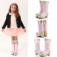 Free shipping 2013 new children princess winter boots leather waterproof warm child shoes kids martin boots girls snow boots 009