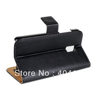 Side Flip PU Leather Case for LG Optimus 2X P990, 2 Business Card Holders, Stand Function