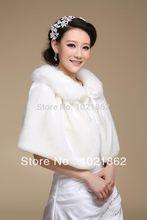 cinta de piel sintética boda nupcial invierno chal envuelve ciudad del encogimiento de hombros robó al0011 capa(China (Mainland))