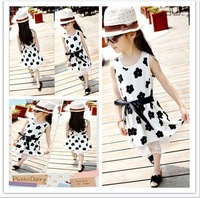 Promotion 5pcs/lot Free Shipping 2014 Summer New Arrival Fashion Flower Children Girl Princess One Piece Dress
