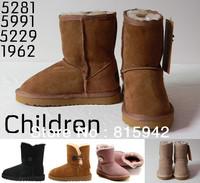 Children Australian Branded Winter Snow Boots 5991 5281 5229 fur for kids girls and boys Sand Black Chestnut Chocolate Grey pink