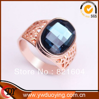 2013New Retail Free Shipping Fashion Rose Gold Plated Grass Stone Rings For Men Jewelry  WNR647