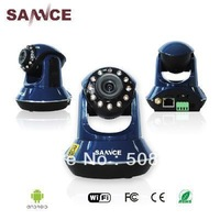 New 1pcs/lot Sannce Wireless IP Camera 2 Way Audio Seurity Pan/Tilt Night Vision Smart phone View Cam Dropshipping