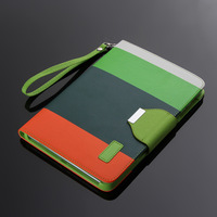 (3pcs/set = 1 case + 1 stylus + 1 SP) Hybrid Color Magnetic  Wallet PU Leather Smart Cover  Case for iPad mini wth Wake / Sleep