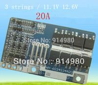 NEW 3 strings / 11.1V 12.6V lithium battery protection board high current 20A 18650 lithium battery protection board work