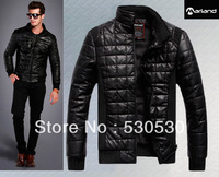 Free Shipping+2013 stand Collar The surface of the leather, jackets for men,Thickening Outerwear, Men's winter Coats