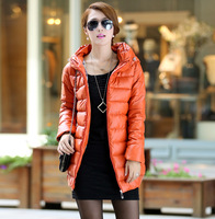 2013 autumn and winter medium-long down cotton plus size clothing wadded jacket cotton-padded jacket thickening outerwear female