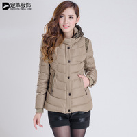 Small cotton-padded jacket female short design slim autumn and winter cotton-padded jacket women's Large outerwear wadded jacket