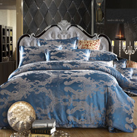 Free shipping day jacquard bedding satin bedding a family of four simulation Sigong European-style wedding linen textile